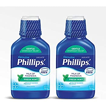 Phillips Milk of Magnesia Laxative (Fresh Mint, 26-Fluid-Ounce Bottle) (Pack of 2)