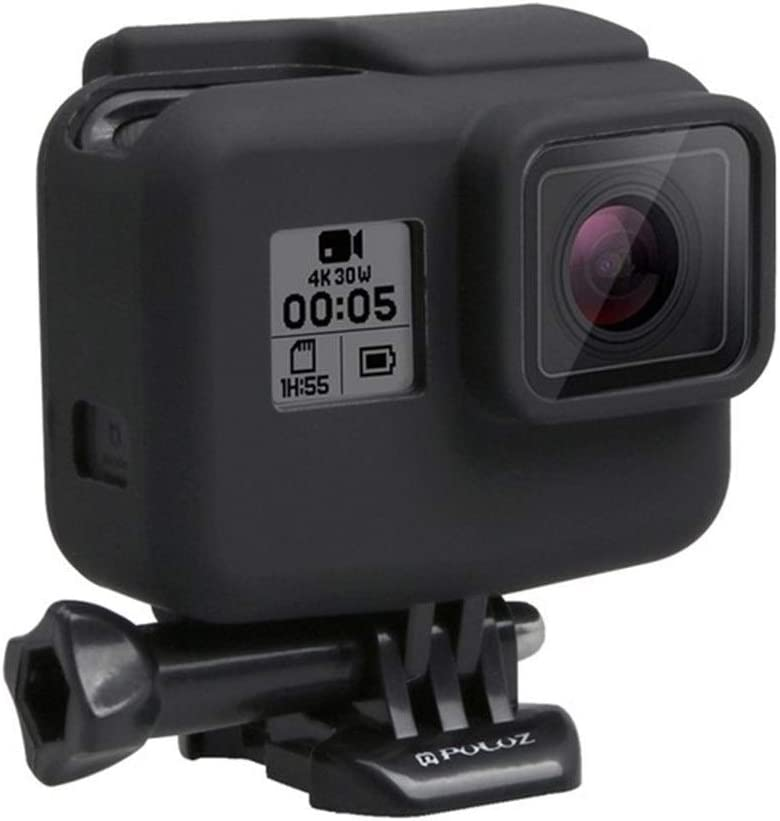 جراب XIANYUNDIAN من السيليكون الناعم الواقي لهاتف GoPro Hero 7/6/5 أسود إكسسوارات الكاميرا الكاميرا تعليق المشبك (اللون: أسود)