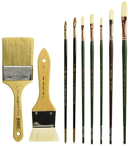 Silver Brush NS-1936 Nelson Shanks Figure Professional Series No.2 Brush Set, 21 Per ()