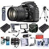 Nikon D810 Digital SLR Kit with AF-S NIKKOR 24-120mm f/4G ED VR Lens - Bundle with Camera Bag, 64GB Class 10 SDXC Card, 2x Spare Battery, 77mm Filter Kit, Cleaning Kit, Video Light, Tripod and More