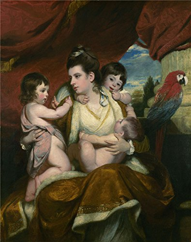 oil-painting-sir-joshua-reynolds-lady-cockburn-and-her-three-eldest-sons1773-8-x-10-inch-20-x-26-cm-