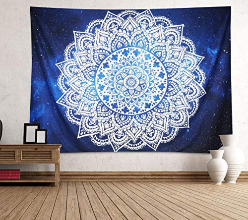 - Supermee Mandala Wall Tapestry Abstract Geometric and Star Field Galaxy Wall Hanging Tapestry Blanket for Bedroom Living Room Dorm Wall Decor Art Tapestry Bedspread 79x59 Inches