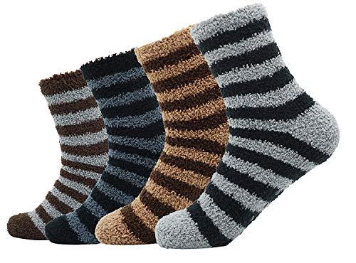 Men's Comfort Crew Sock 4 Pack Casual ()