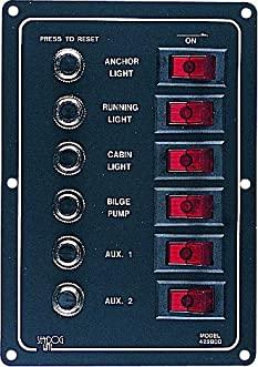 422800-1 Alum Circuit Break Panel 6 Circuit