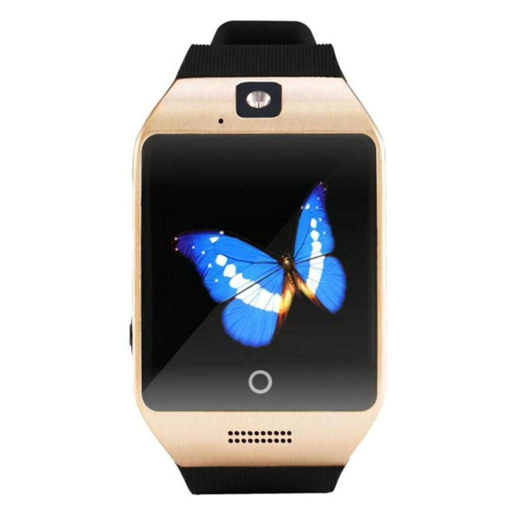 2018 Q18 Bluetooth Smart Watch GSM Camera TF Card Phone Wrist Watch for Android & iOS (Gold)