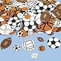Fun Express Fabulous Foam Self-Adhesive Sport Ball Shapes - 500 Pieces