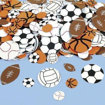 Fun Express Fabulous Foam Self-Adhesive Sport Ball Shapes - 500 (Basketball Sports Sticker)