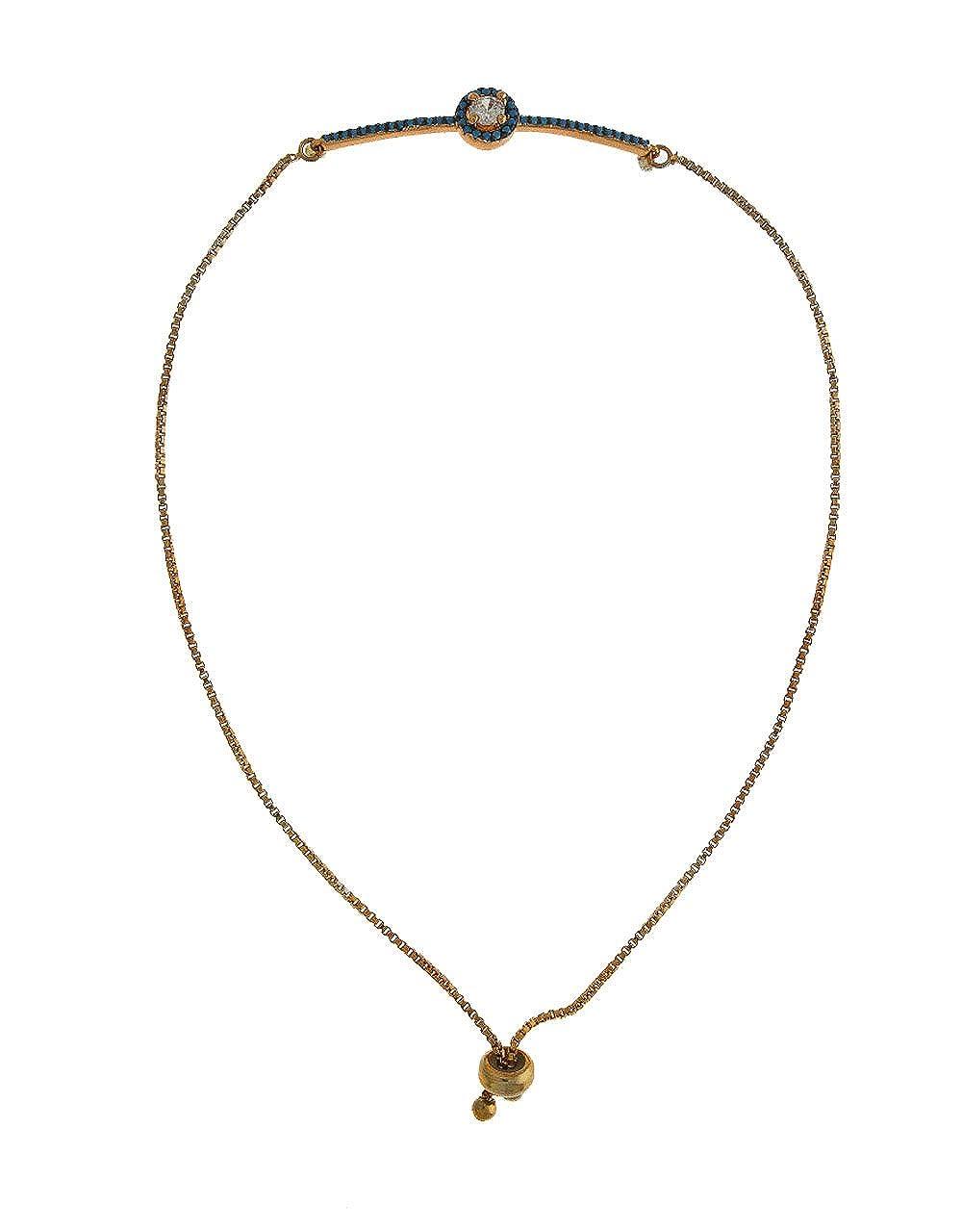 Anuradha Art Rose-Golden Finish Heart Shape Fancy Designer Hand Bracelet//Kada for Women//Girls