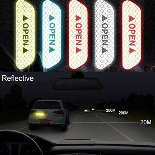 shunyang 3D Super Reflective Stickers Car Side Door Edge Bumper Anti-Scratch Protection Guards Trim Stickers Universal Red