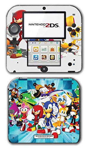 Sonic Boom Hedgehog Tails Amy Rose Knuckles Eggman Shattered Crystal Fire & Ice Orbot Cubot Shadow Video Game Vinyl Decal Skin Sticker Cover for Nintendo 2DS System Console