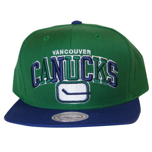 ce7fb1556fa Vancouver Canucks Arch Logo Tri-Pop Green Blue Snapback