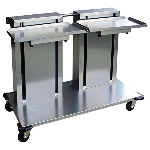 Lakeside 2816 - Mobile Cantilever Tray Dispenser, Double Platform, 47