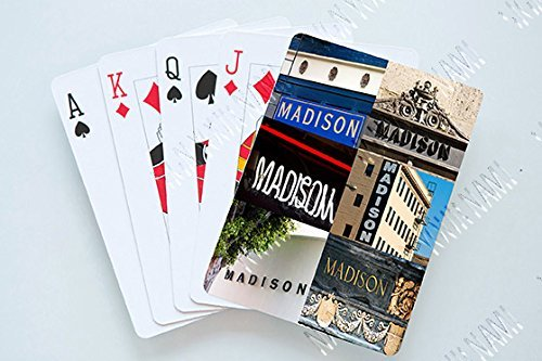 MADISON Personalized Playing Cards featuring photos of actual signs SignYourName PC-MADISONX