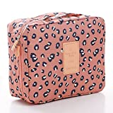 CalorMixs Travel Cosmetic Bag Printed Multifunction Portable Toiletry Bag Cosmetic Makeup Pouch Case Organizer for Travel (Leopard print)