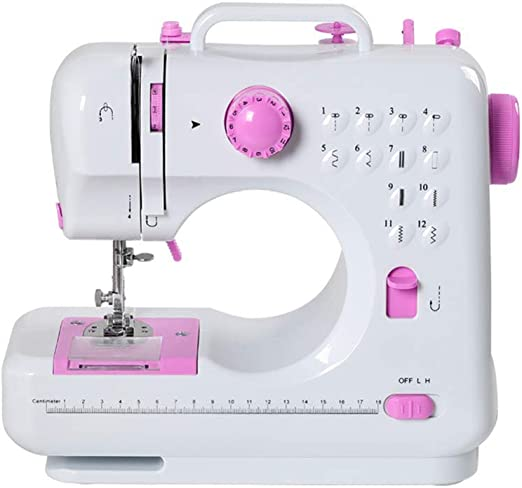 Máquina de coser Portátil eléctrico con pedal Overlock 12 puntos incorporados para aficionados principiantes bordado ...