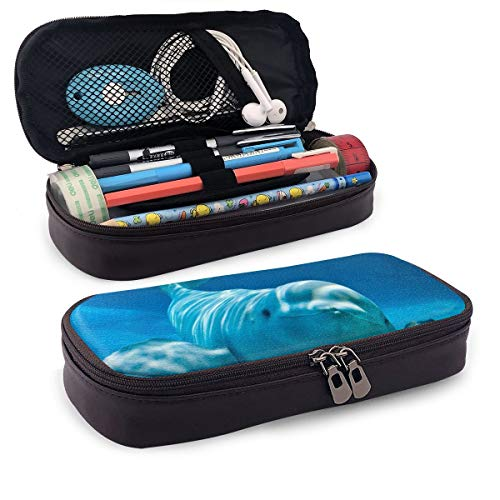 - Cute Pencil Case - High Capacity Pencil Pouch Stationery Organizer Multifunction Cosmetic Makeup Bag, Perfect Holder for Pencils and Pens (Cute Beluga Whale Blue)