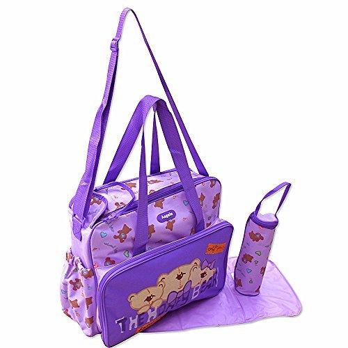 GMMH 3piezas Baby Color Lila bolso cambiador Bolsa de bolsa para pañales Baby funda viaje Selección de Colores