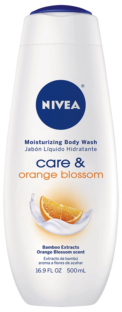 NIVEA Care & Orange Blossom Moisturizing Body Wash, 16.9 Fluid Ounce (Pack of 3)