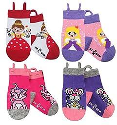 Ez Sox Kids Animal Socks (medium, Princess Fairy-Kitty-Mouse)