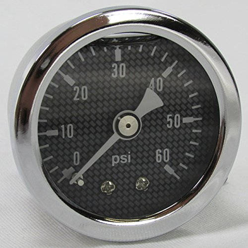 (Marshall 60 psi Oil Pressure Gauge - Shock Proof and Liquid Filled - 1/8