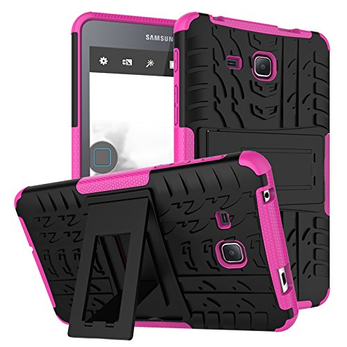 Galaxy Tab A 7.0 Case, KMISS Hybrid Heavy Duty Armor Protection Cover [Shockproof] [Anti-Scratch] [Built-In Kickstand] Skin Case For Samsung Galaxy Tab A 7.0