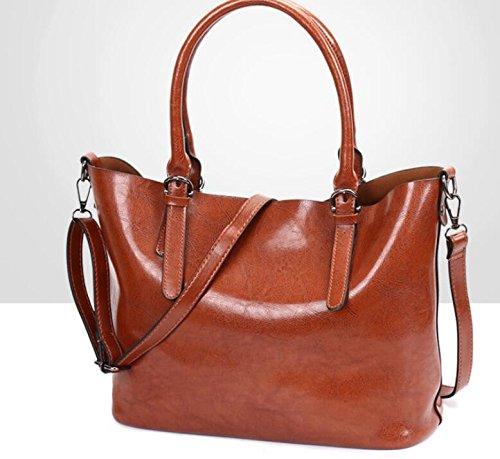 Y Moda Meaeo Brown Confortable Primavera La Bolso Gris Bolso Nueva Impermeable Moda Bolsos Grande x4gUqIgE