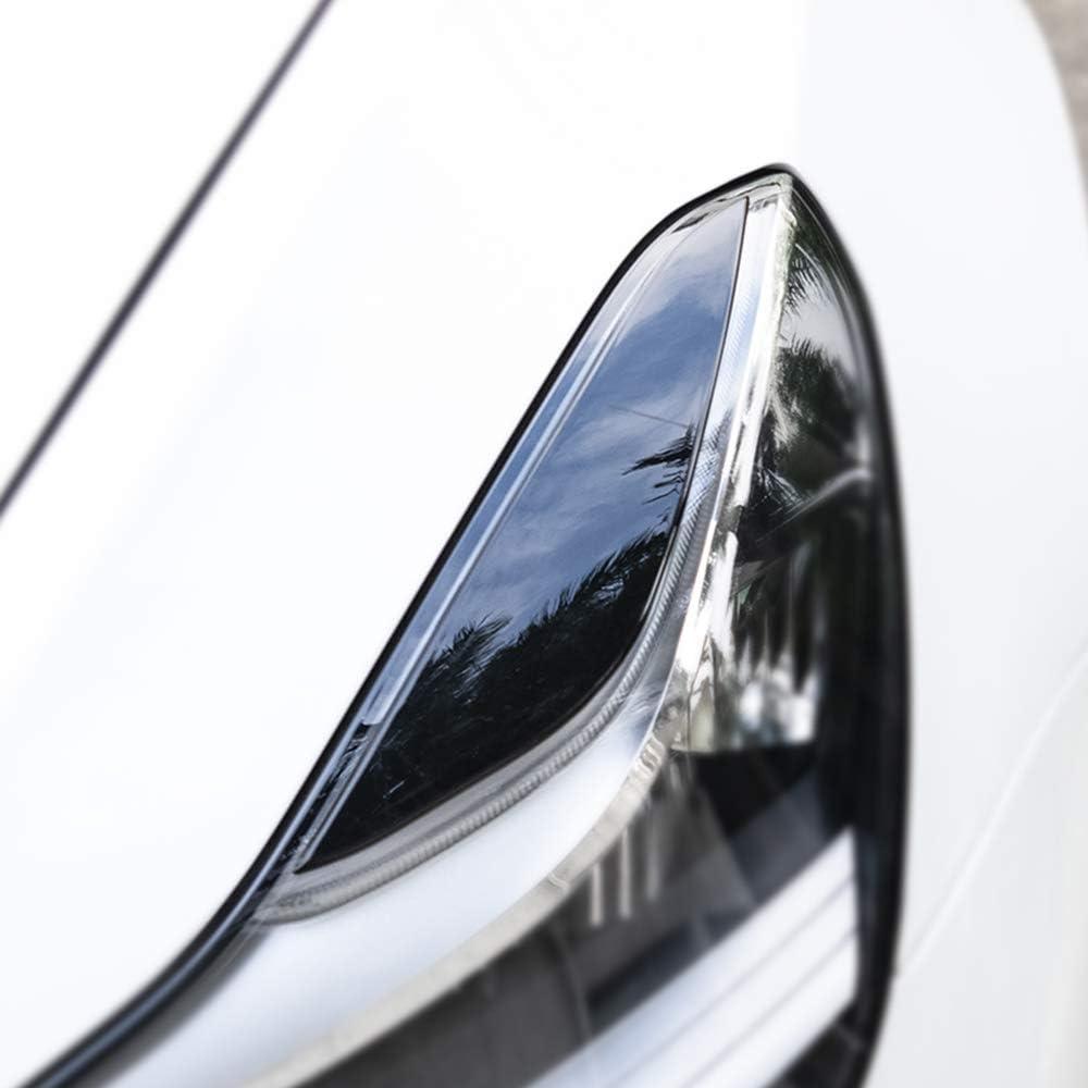 SODIAL Auto Scheinwerfer Augenbraue Augenlid Trim Aufkleber Ersatz f/ür Tesla Modell 3 Scheinwerfer Lampe Augenbraue Aufkleber Dekoration