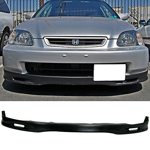 (96-98 Honda Civic EK 2/3/4 Door Spoon Style Add-On Front Bumper Lip Polyurethane)