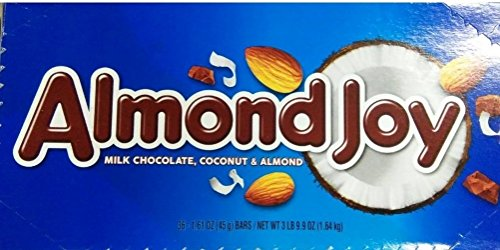 ALMOND JOY Candy Bar, (1.61-Ounce Bar, Pack of 36)