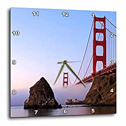3dRose dpp_88611_1 California, San Francisco. Golden Gate Bridge - US05 RJA0081 - Rebecca Jackrel - Wall Clock, 10 by 10-Inch