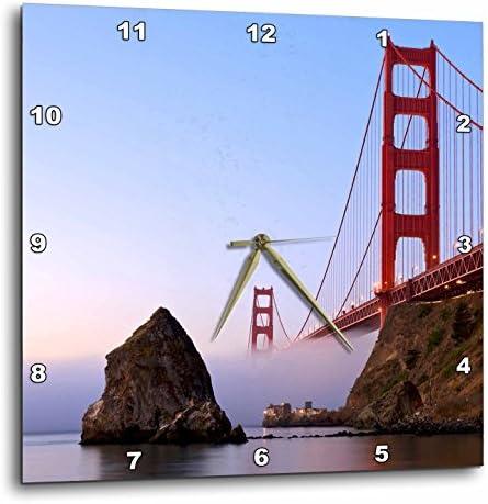 3dRose California, San Francisco. Golden Gate Bridge-US05 RJA0081-Rebecca Jackrel-Wall Clock, 15-inch DPP_88611_3