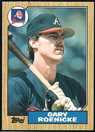 Amazoncom Baseball Mlb 1987 Topps Traded 105 Gary Roenicke Braves