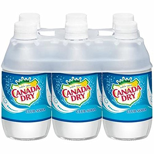 Canada Dry Club Soda Soft Drink, 10 Ounce (24 - Case Soda