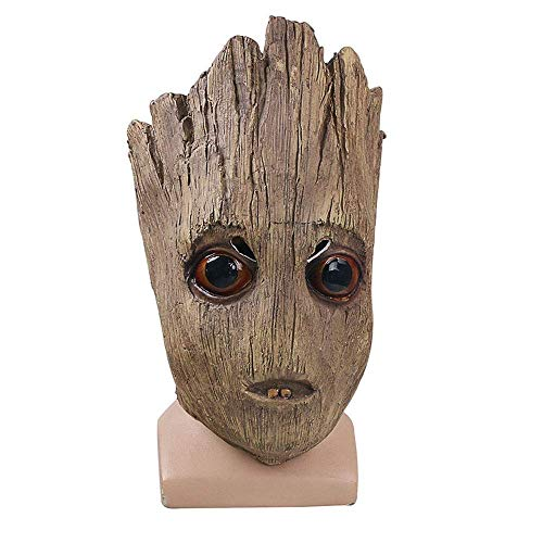 Wsjdmm Halloween Novelty Guardians of The Galaxy Groot Tree Mask Halloween Christmas Wigs Props Prank Props Headgear Wigs Funny Mask