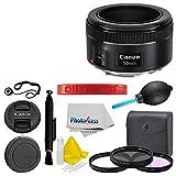 Canon EF 50mm f/1.8 STM Lens + Filter Kit + Dust Blower + More Top Value Bundle