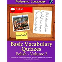 Parleremo Languages Basic Vocabulary Quizzes Polish - Volume 2