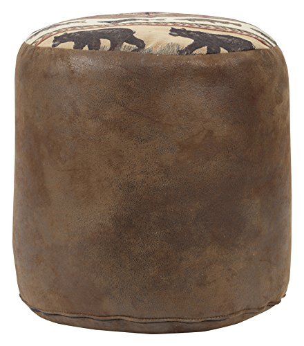 American Furniture Classics Sierra Lodge Tapestry Pouf Ottoman For Sale