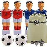 4 Red/Blue Shirts/Socks Foosball Men+Screws+Soccer Balls+Billiard Evolution Bag