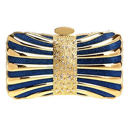 Femmes Sacs Sac support Soirée Bleu Petit Mariage Main Luckywe Parti Anneau De Diamants À Paillettes dqwpEdxPa