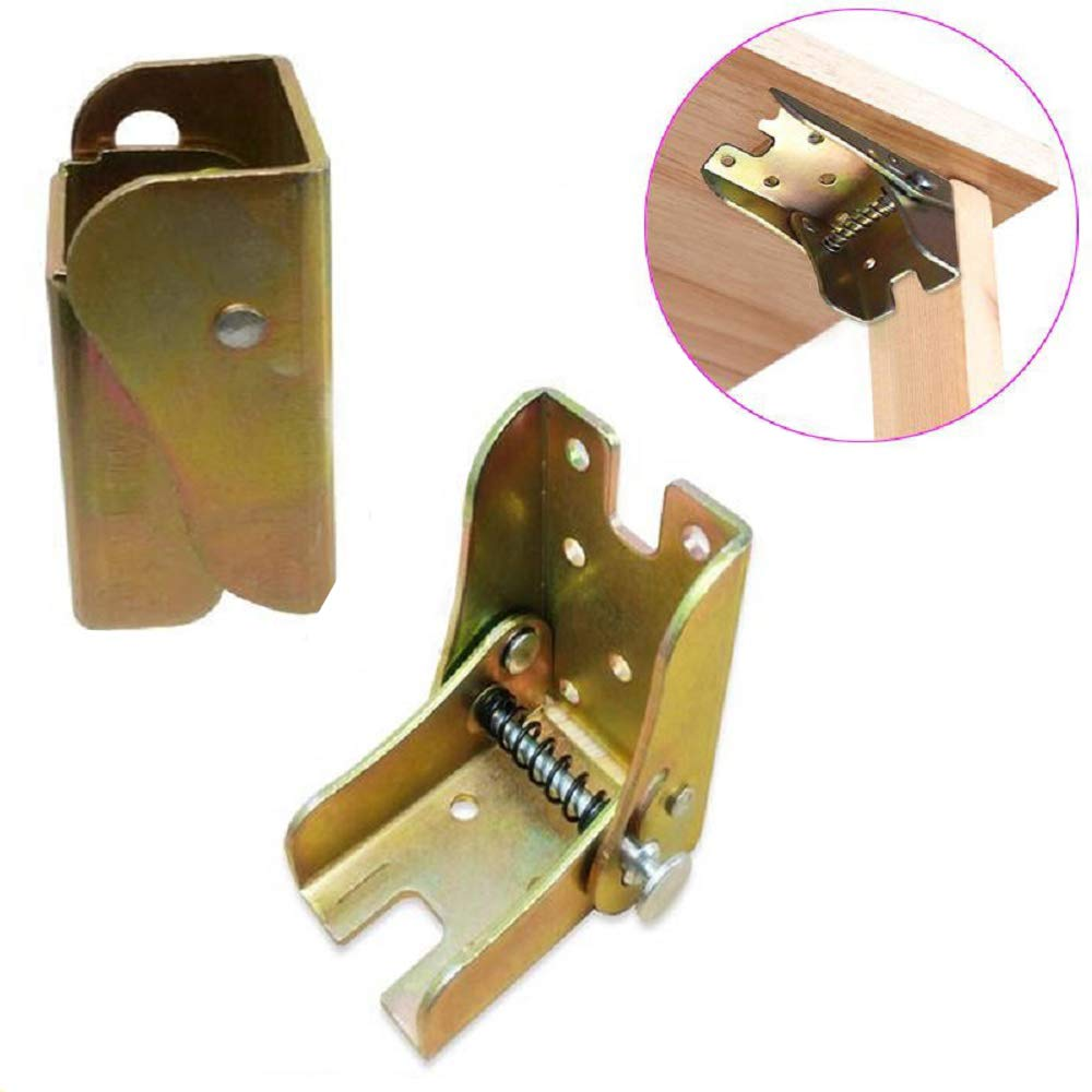 Metal 90 Degree Automatic Lock Folding Hinge Furniture Table Frame Combination Table Chair Telescopic Foot