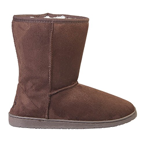 DAWGS Womens 9 Inch Faux Shearling Microfiber Vegan Winter Boots