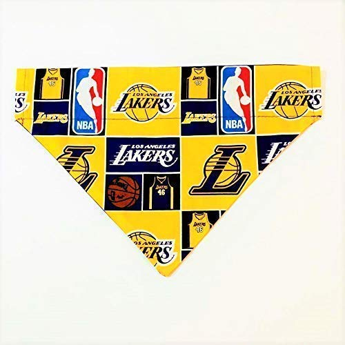 LA Lakers Dog Bandana No-Tie Design