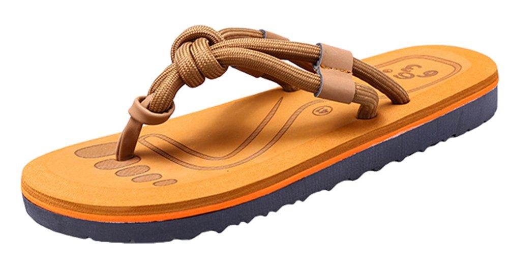 Snone Paar Unisex Erwachsene Sommersandalen Mode Design Koreanischer Stil Rutschfest Atmungsaktive Bequeme Zehentrenner Flip Flops Strandsandalen Khaki