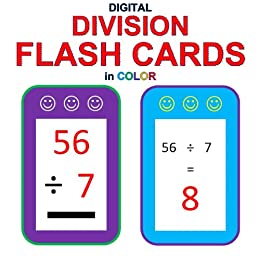 Digital Division Flash Cards in Color (1-9 Shuffled Twice) 2 ...