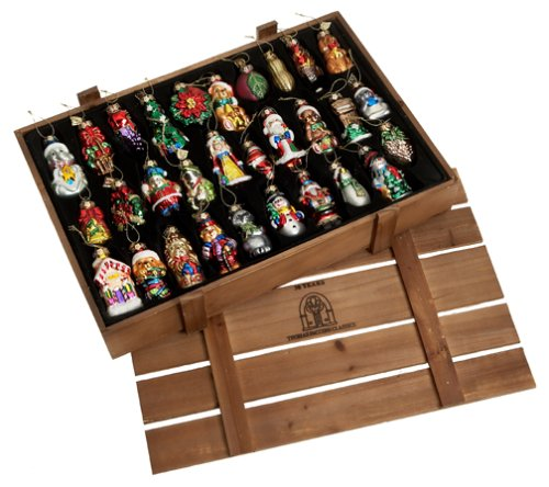 Amazon.com: Thomas Pacconi Hand-Painted Glass 30-Piece Assorted Ornaments  In Wood Storage Crate: Home & Kitchen - Amazon.com: Thomas Pacconi Hand-Painted Glass 30-Piece Assorted