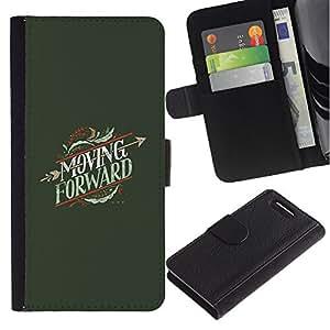 iBinBang / Flip Funda de Cuero Case Cover - Avanzando Heartbreak Flecha - Sony Xperia Z3 Compact