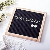 2-in-1 Changeable Felt Letter Board Menu Message Bulletin Board + Desktop Blackboard Chalkboard 10''X10'' Kids Writing Board