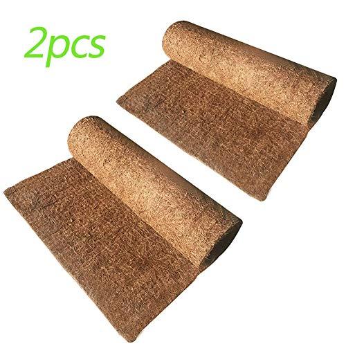 Hamiledyi 2Pcs Reptile Carpet Natural Coconut Fiber Carpet Mat for Pet Terrarium Liner Reptile Supplies for Lizard Snake Chamelon Turtle Bedding Bunny Rabbit Mat