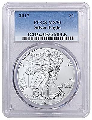 2017 1 oz Silver U.S. American Eagle 1 Dollar MS70 PCGS