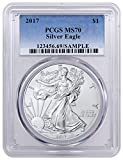 #5: 2017 1 oz Silver U.S. American Eagle 1 Dollar MS70 PCGS